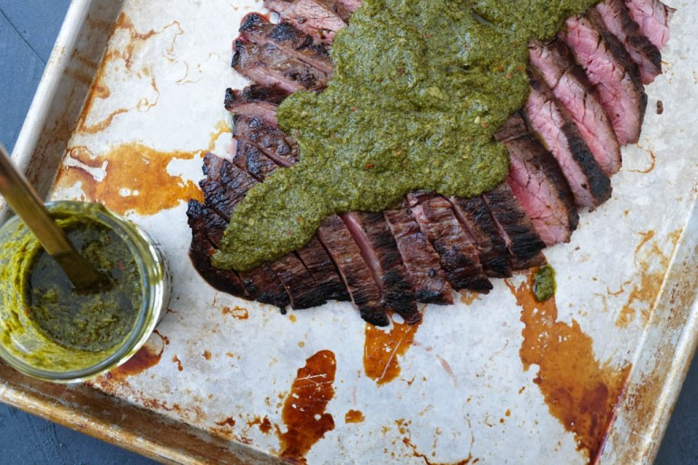 Flank Steak and Chimmichurri