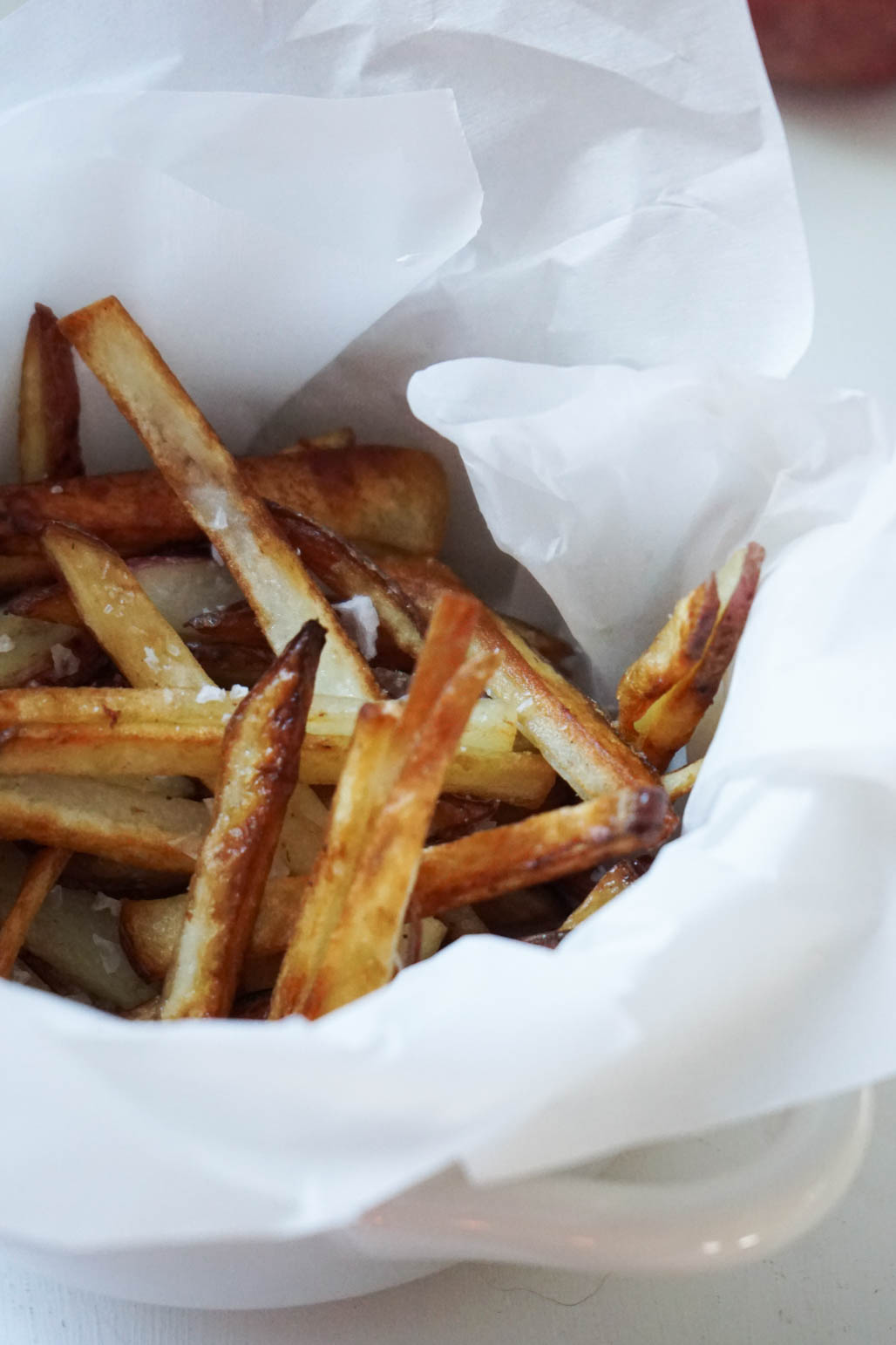 french fries with sea salt